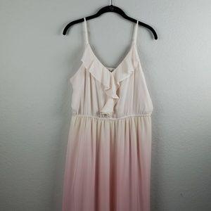 LC Lauren Conrad | NWT Women's Ruffle Maxi Dress